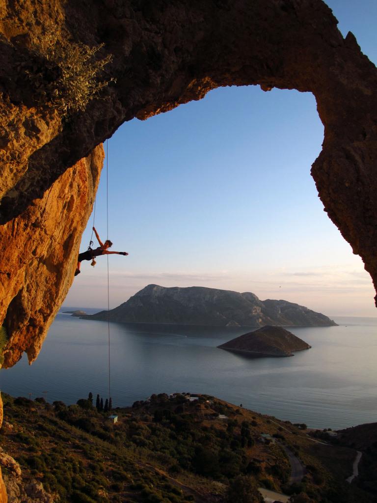 Escalada en la isla de Kalimnos