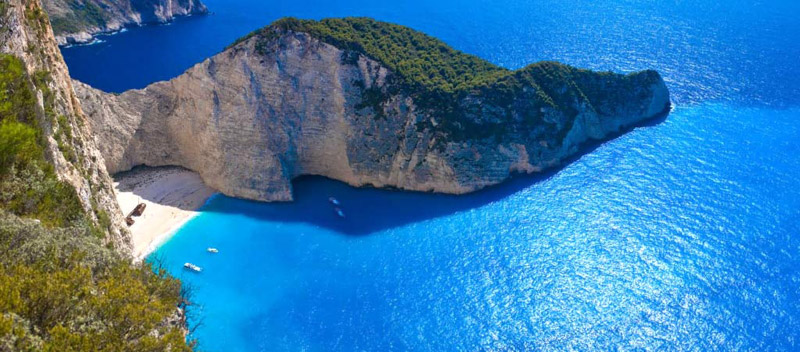 Espectacular playa en la isla jónica de Zante
