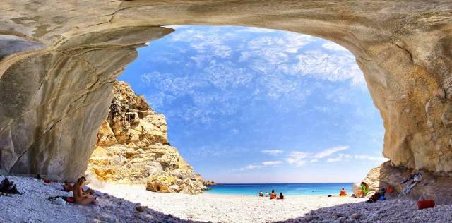 Playa Seychelles Beach en la isla de Icaria