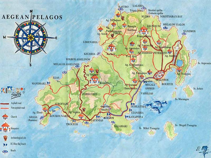 Mapa de Skiathos